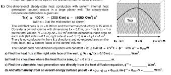 e one dimensional steady state heat conduction with uniform internal heat generation
