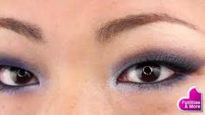navy smoky eyes makeup tutorial using s only for asian monolid