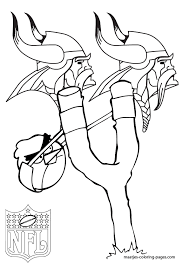 Minnesota Vikings Coloring Pages Color Bros