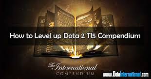 how to level up dota 2 ti5 compendium