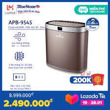 Nơi bán [Voucher 400k] Máy Lọc Không Khí BlueStone APB-9545 - 3 lớp màng lọc  ( lọc thô, màng lọc kết hợt HEPA và than hoạt tính ) - Công suất 60W -