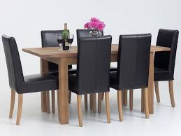 dining table chairs leather. black leather dining room chairs design sicadinccom home table e