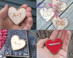 Sweet & Cheap Valentine's Day Gift: Custom Birch Heart Pins - Kelly  Golightly