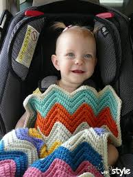 chevron car seat blanket crochet pattern
