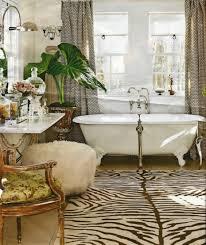 interior divine bathroom decoration using white clawfoot bathtub