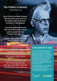 news yeats  poetry in motion wb yeats on the dart irish rail