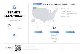 Bernice Edmondson, (360) 297-2103, 8220 NE West Kingston Rd ...