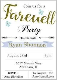 Farewell Party Invitation 650 911 Minimalist Farewell