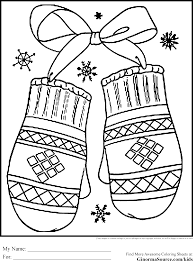 Small Picture Winter Holiday Coloring Pages Mittens Coloring Pages Pinterest