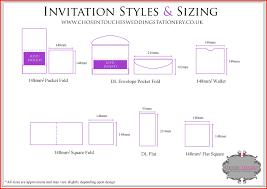 Elegant Invitation Size Chart Collection Of Invitation Designs