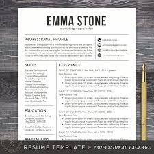 pro cv template resume template cv template for word mac or pc professional