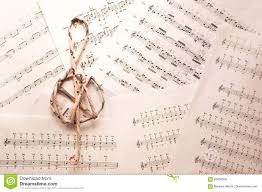 Treble Clef Music Sheet Treble Clef On Music Sheets Background Stock Image Image Of School