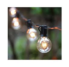 10 25ft g40 globe string lights with clear bulbs ul listed backyard patio lights hanging indoor outdoor string light