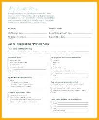 Different Birth Plan Options Best Birth Plan Template Inspirational Hospital Editable