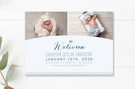 Free Printable Photo Birth Announcements Templates 021