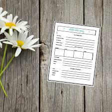Babysitter Emergency Contact Sheet Babysitter Checklist And Emergency Contact Sheet Simple Living