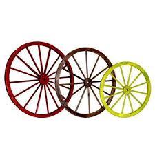 decorative antique wagon garden wheel set of 3