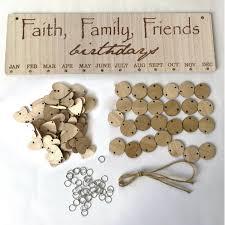 hanging wooden birthday reminder calendar diy family birthday board plaque 5 5 of 12