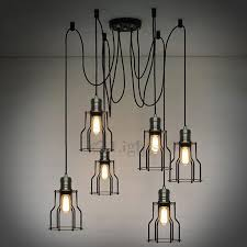 industrial lighting chandelier. Modren Industrial Vintage 6 Light Industrial Chandelier Lighting Loft For T