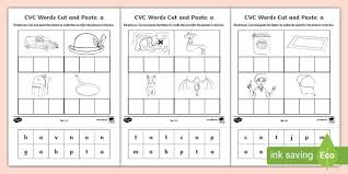 You'll find a master word list at the beginning. A Cvc Words Cut And Paste Worksheets Teacher Made