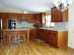 Kitchen Floor Cupboards Wood Flooring That Goes Well With Honey Oak Cabinets Dream Home
