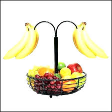bowls fruit bowl banana hanger with tree hook mills wavy bamboo and two tier basket