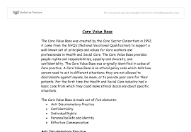 care value base gcse health and social care marked by teachers com document image preview