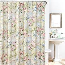 gorgeous cloth shower curtains and giverny fl plisse fabric shower curtain liner and hook
