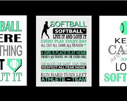 pics of softball sayings softball poster etsy