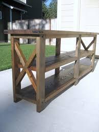 Diy Rustic Sofa Table Great Rustic Sofa Table Check Your Homes
