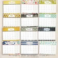 2016 Free Printable Calendars Lolly Jane