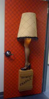 Leg Lamp String Lights Leg Lamp Door Decor From Our Office Christmas Door