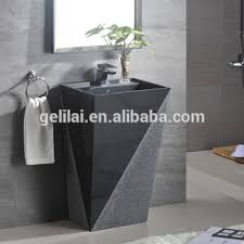 Marble pedestal sink Black Marble Modern European Style Bathroom Wash Basin Sink Marble Pedestal Basin Decora Loft Modern European Style Bathroom Wash Basin Sink Marble Pedestal