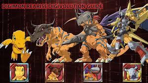 Digivolution Guide For Digimon Rearise