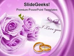 Wedding Powerpoint Template Free Purple Wedding Powerpoint Templates Free