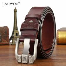 lauwoo fashion mens casual genuine leather belt