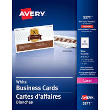 Avery Printable Microperf Business Cards Laser 2 X 3 1 2 White Uncoated 250 Pack