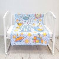 «<b>Baby Nice Одеяло</b> Пора спать 140 х 100 см, цвет: голубой ...