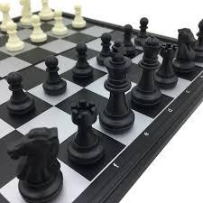 Standard Folding U0026 Magnetic Chess Tournament Set Board Size 25 Cm X 25 Cm  King Height
