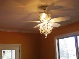 image of amazing crystal ceiling fan