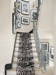 zebra pattern is perfect to decorate stairs in a modern home