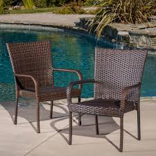 Outdoor PE Wicker Stackable Club Chairs (Set of 2) by Christopher Knight  Home - Free Shipping Today - Overstock.com - 13468674