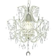plug in mini chandelier wrought iron and crystal swag white i like the idea of a laundry room lamp