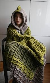 Hooded Blanket Crochet Pattern Custom Decoration