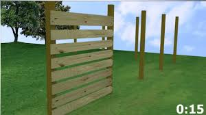 Horizontal Wood Fence Meeks In Under A Minute YouTube