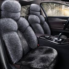 keep warm long plush car seat covers smooth car seat cushion universal car stying for toyota