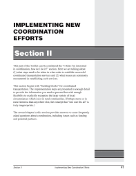Section Ii Implementing New Coordination Efforts Toolkit
