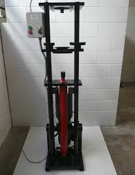 stand and platens to accommodate 50mm 100mm 150mm or specified sizes 3000psi 10ton pressure hydraulic cylinder with microline power unit sample extruder