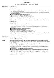 Sample Of Electrician Resumes Electrician Resume Samples Velvet Jobs