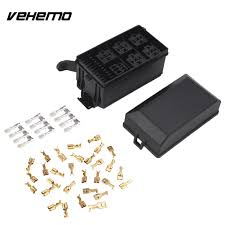 black metal fuse box wiring library 1 set premium black car fuse box 6 relay 5 road block holder replacement durable engine